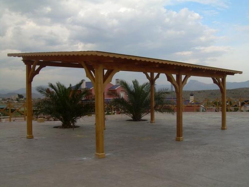 P rgola cochera de madera - Cocheras de madera prefabricadas ...